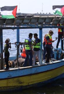 انطلاق سفينة الحرية الثالثة من غزة