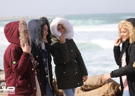 أجواء عاصفة في مدينة غزة