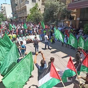 مسيرة لحماس في خانيونس رفضًا لـالضم
