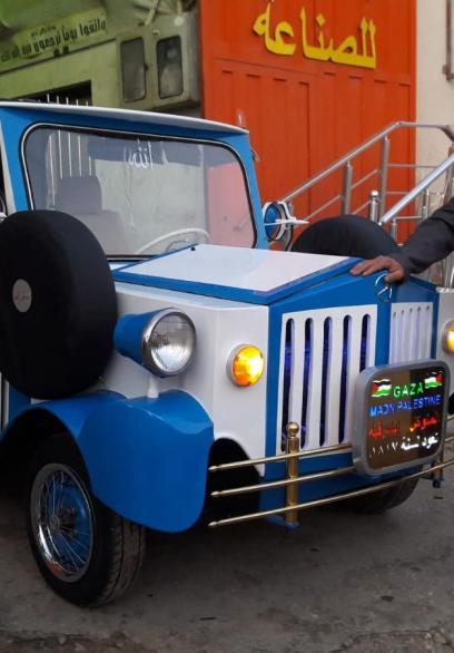 خان يونس تُحيي سيارة تعود لـ200 عام