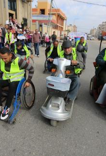 سباق ماراثون بخانيونس احتفالا باليوم العالمي لذوي الاحتياجات الخاصة