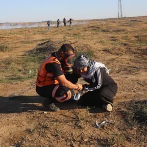 قمع الاحتلال لفعاليات مسيرة العودة شرقي غزة