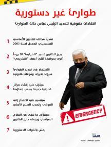 طوارئ غير دستورية.. انتقادات حقوقية لتمديد الرئيس عباس حالة الطوارئ