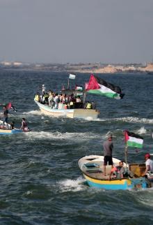 الحراك الخامس لكسر الحصار البحري في غزة