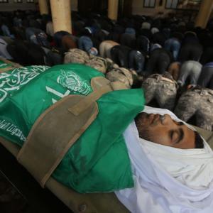 جنازة الشهيد الفنان محمد أبو عمرو