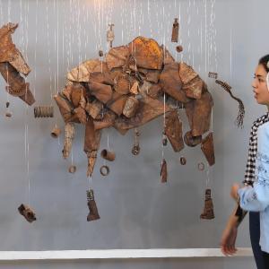 معرض بمشاركة 64 فنانًا في غزة