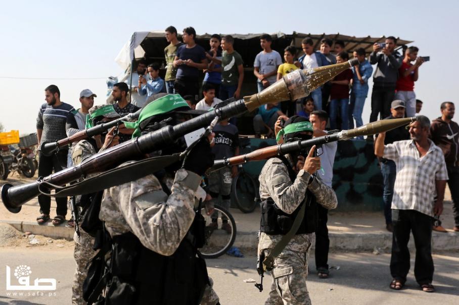 عرض عسكري للقسام في ذكرى عملية حد السيف
