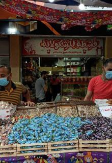 محلات الحلوى برفح تستعد لاستقبال العيد