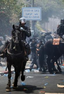 مواجهات جمعة الغضب بمدينة القدس المحتلة