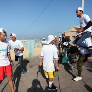 ماراثون لذوي الاحتياجات الخاصة بغزة