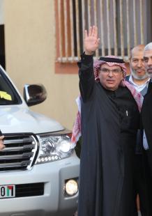 مغادرة السفير العمادي لقطاع غزة