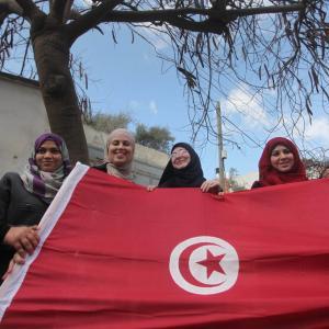 وقفة في غزة للتضامن مع تونس ضد الإرهاب