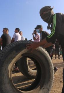 مشاهد من الجمعة السابعة لمسيرات العودة جمعة النذير