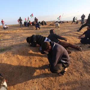قمع الاحتلال للمتظاهرين في الجمعة الـ39 شرق غزة