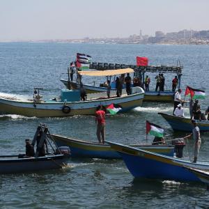 انطلاق سفينة الحرية2 من ميناء غزة لكسر حصارها