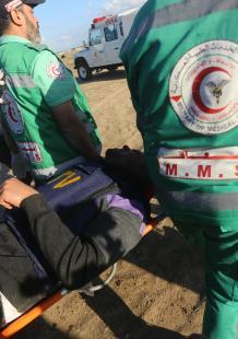 مواجهات الجمعة الـ43 لمسيرات العودة شرقي غزة