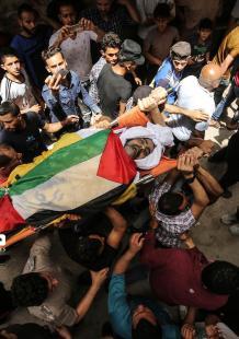 تشييع جثمان الشهيد الساعي بغزة