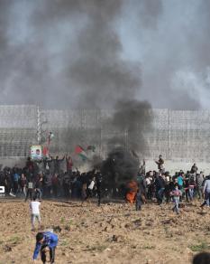 إصابات باعتداء قوات الاحتلال على المتظاهرين شرقي غزة