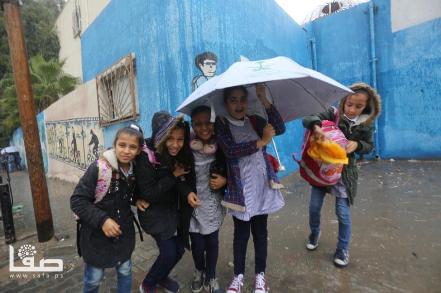 أجواء الأمطار على قطاع غزة