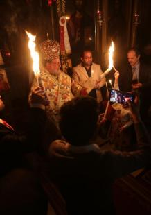 أجواء القداس ليلة عيد الفصح بغزة