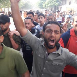 تشييع الشهيد أحمد محمد الشحري بخان يونس