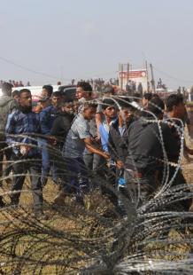 جمعة الشباب الثائر شرق مدينة غزة