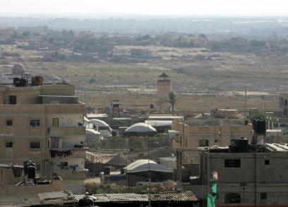 حدود غزة مع مصر بالتزامن مع الاشتباكات بسيناء