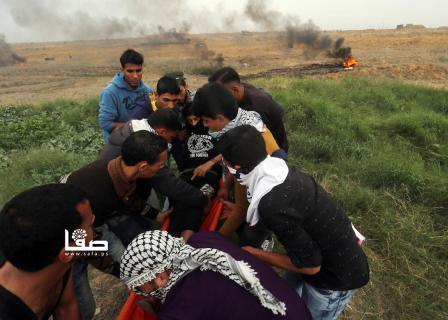 إصابات بمواجهات مع قوات الاحتلال جنوبي القطاع