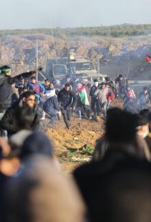مواجهات الجمعة الـ42 لمسيرات العودة وكسر الحصار شرقي غزة