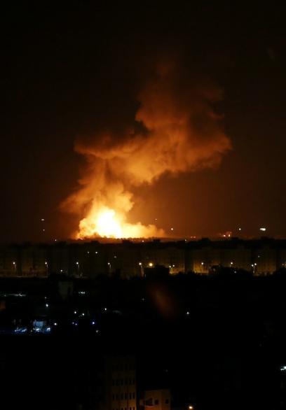 القصف الإسرائيلي لمواقع في غزة