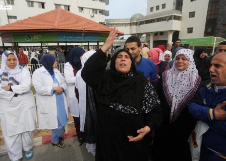 احتجاج بمستشفى الشفاء بعد توقف خدماته بفعل أزمة النظافة