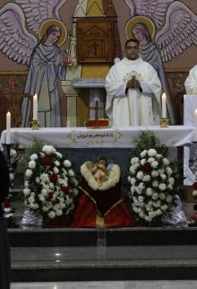 قدّاس الطائفة المسيحية الكاثوليكية بغزة