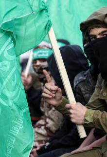 فعالية جماهيرية لحركة حماس بذكرى انطلاقتها 32