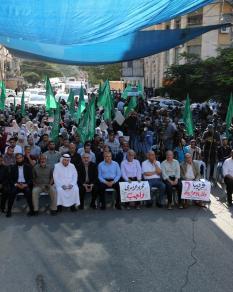 وقفة أمام مقر الصليب بغزة تضامنا مع الأسرى