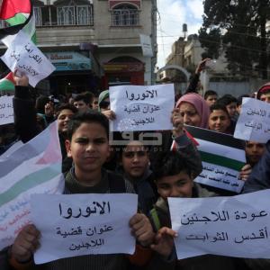 اعتصام بمخيم الشاطئ للمطالبة بحقوق اللاجئين الفلسطينيين