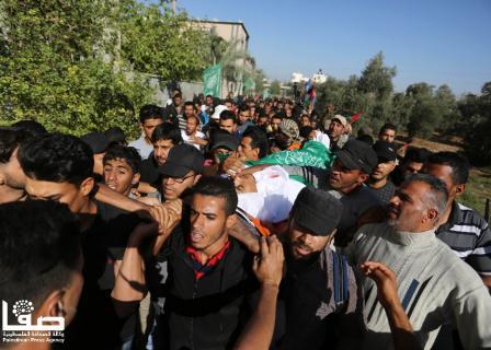 تشييع غاضب لشهداء مليونية العودة بغزة