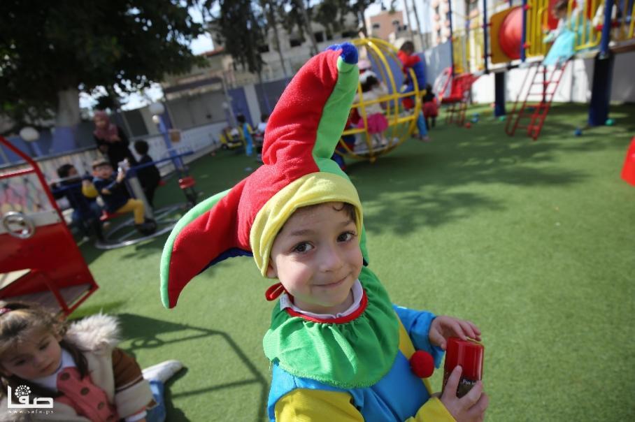 حفلة تنكرية للأطفال بروضة المتميزون بغزة