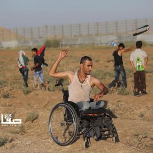 جانب من فعاليات جمعة حماية الجبهة الداخلية شرقي غزة