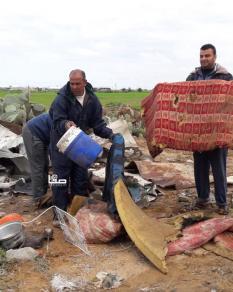 أضرار بفعل العدوان الإسرائيلي شرقي خانيونس