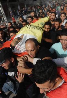 تشيع عدد من شهداء العدوان على غزة