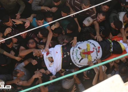 تشييع جثمان الشهيد بهاء أبو العطا