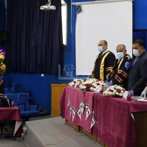 مناقشة الماجستير في زمن انتشار فيروس كورونا بغزة