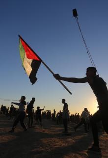 قمع الاحتلال للمتظاهرين في الجمعة الـ38 شرق غزة
