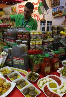 انطلاق معرض المنتجات المحلية الفلسطينية