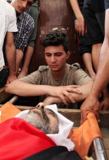 تشييع جثمان معين عبد الحميد الساعي