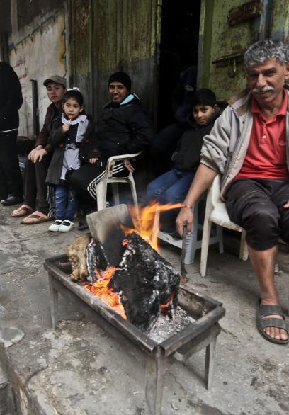 أجواء المنخفض الجوي في قطاع غزة