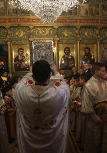 قداس المسيحيين الشرقيين بمناسبة الأعياد في غزة
