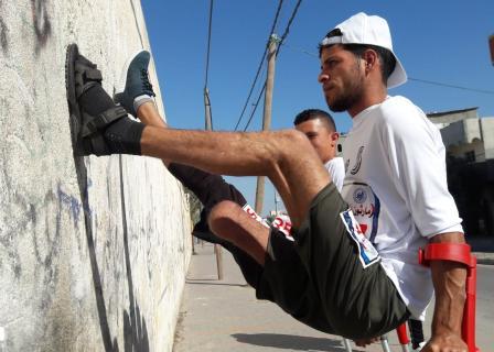 مارثون رياضي لمبتوري الأقدام وسط قطاع غزة