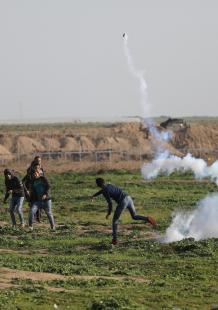 مواجهات الجمعة الـ44 من مسيرات العودة شرقي غزة