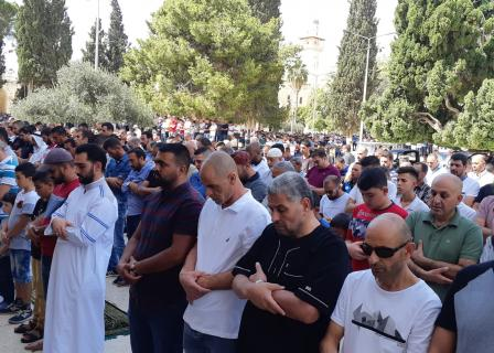 صلاة الجمعة في المسجد الأقصى المبارك